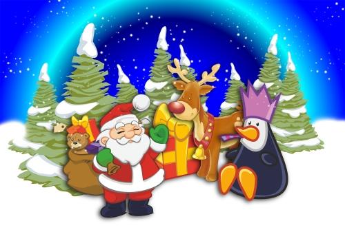 Christmas Scene by Toni Allen
