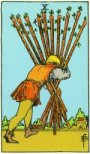 Waite Tarot 10 Wands
