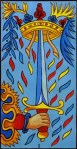 Ace of Swords Marseille Tarot