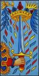 Ace of Swords Marseille Tarot