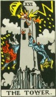 Waite Tarot the Tower