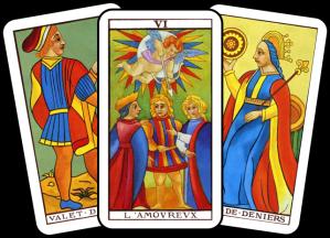 3 tarot cards