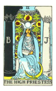 Waite Tarot The High Priestess
