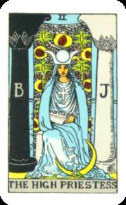 Waite Tarot The High Priestess