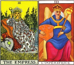 Tarot Waite Empress and Marseille Empress
