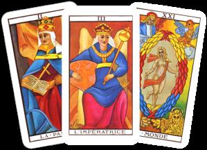 Tarot High priestess Empress World card