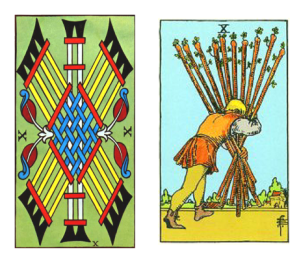 Tarot ten of Batons