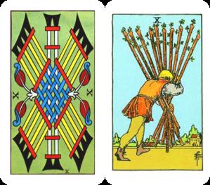 Tarot ten of Batons