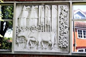 Farnham Police Station bas-relief