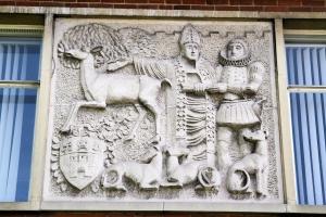 Bas reliefs Farnham Police Station